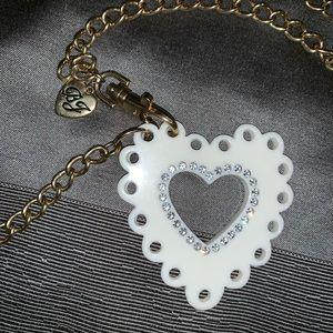Betsy Johnson heart necklace